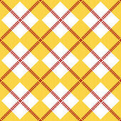 Seamless pattern with yellow and white rhombus — Stock Vector