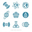 Globe Shapes Collection. Vector icon set. — Stock Vector