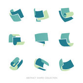 Abstract Shapes Collection. Set of 3-color vector icons. — Stock Vector