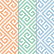 Seamless Greek Key Background Pattern - Stok Vektör