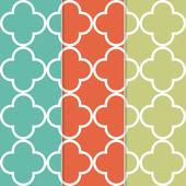 Seamless Quatrefoil Clover Pattern Background — Stock Vector