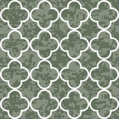 Seamless Quatrefoil Clover Pattern Background — Stock vektor