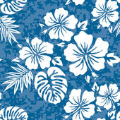 Aloha Hawaiian Shirt Pattern — Stock Vector
