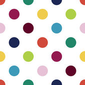 Youthful polka dot pattern in candy colors — Stock Vector