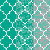 Set of 3 Seamless Moroccan Lattice  Pattern — Stock Vector