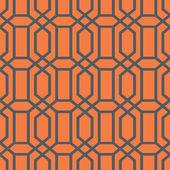 Geometric Lattice Fret Pattern — Stock Vector