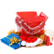 Christmas box with gifts — Stock Photo