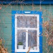 A window of a country house — Stock Photo