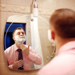 Man ready to shave — Stock Photo
