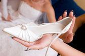 Bride wait a shoe — Stock Photo