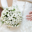 Royalty-Free Stock Photo: Dress and snowdrop flower bouquet