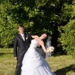 First dance of vife and husband — Stock Photo