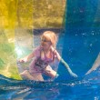 Child in the zorb — Stock Photo