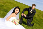Rest on the day of wedding — Stock Photo