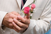 Small rose bouquet — Stock Photo