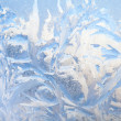Stock Photo: Background of painting on frozen window by frost - nobody