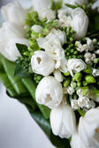 Wedding bouquet of white flowers — Stock Photo