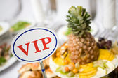VIP place at the table — Stock Photo