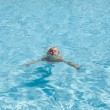 Swimming girl — Stock Photo
