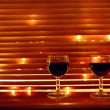 Two red wine glasses — Stockfoto