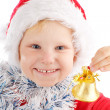 Child with Christmas bell - Stock Photo