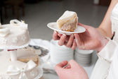 A slice of a wedding cake — Stock Photo
