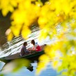 Couple in a boat - Stock Photo
