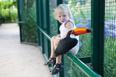 Tucan and a girl — Stock Photo