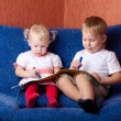 Two children drawing — Stock Photo