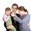 Stock Photo: Family in office