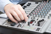 Adjusts setting of a synthesizer — Stock Photo