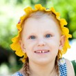 Delighted small girl - Stock Photo