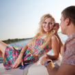 Young couple on the boat — Stock Photo #24499047