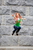 Jumping young girl — Stock Photo