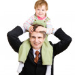 Portrait with father — Stock Photo #25483227