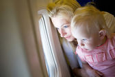 Looking through the window of the plane — Stock Photo