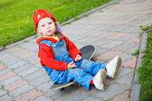 Çocuk kaykay — Stok fotoğraf
