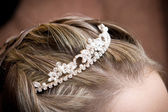 A beautiful decoration to the hair — Stock Photo