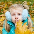 Stock Photo: Girl showing silence