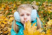 Girl showing silence — Stock Photo