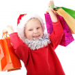 Small Santa with presents — Stockfoto #38709767