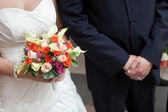 Bouquet and wedding — Photo
