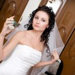 Preparation of the bride — Stock Photo