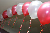 Decoration with baloons — Stock Photo