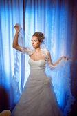 Bride with veil — Stock Photo