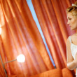 Bride near the lamps — Stock Photo #39887653