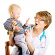 Stock Photo: Child and doctor