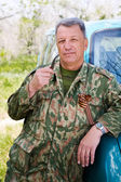 The old soldier on rest — Stock Photo