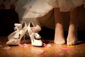The bride's shoe — Foto de Stock