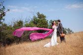 Con mantón de vuelo — Foto de Stock